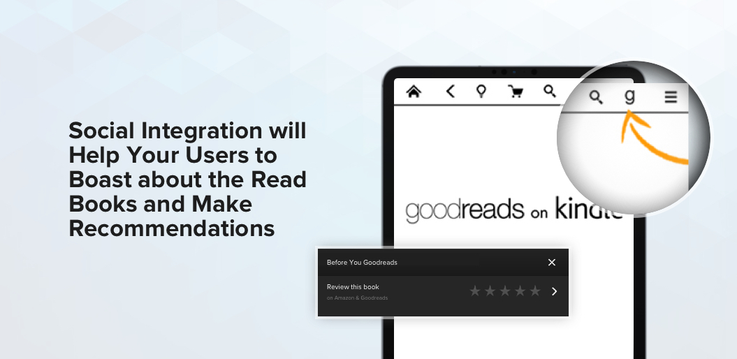 Social Integration reading app