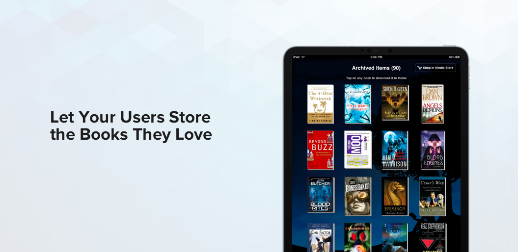 Favorite Books in ebook reading app