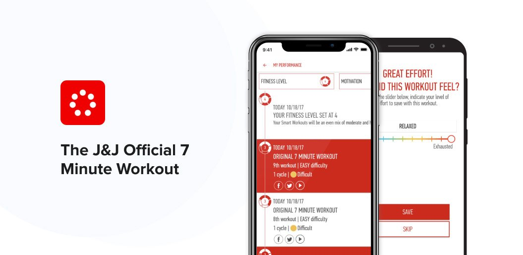 the J&J Official HIIT Workout app