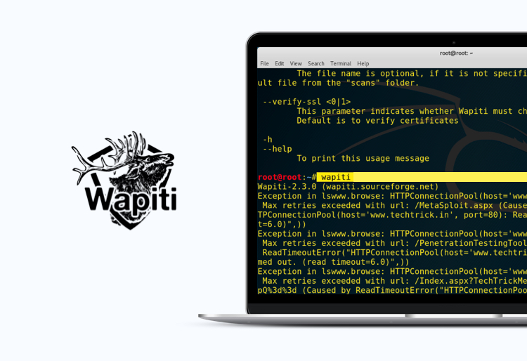 Wapiti tool for security testing