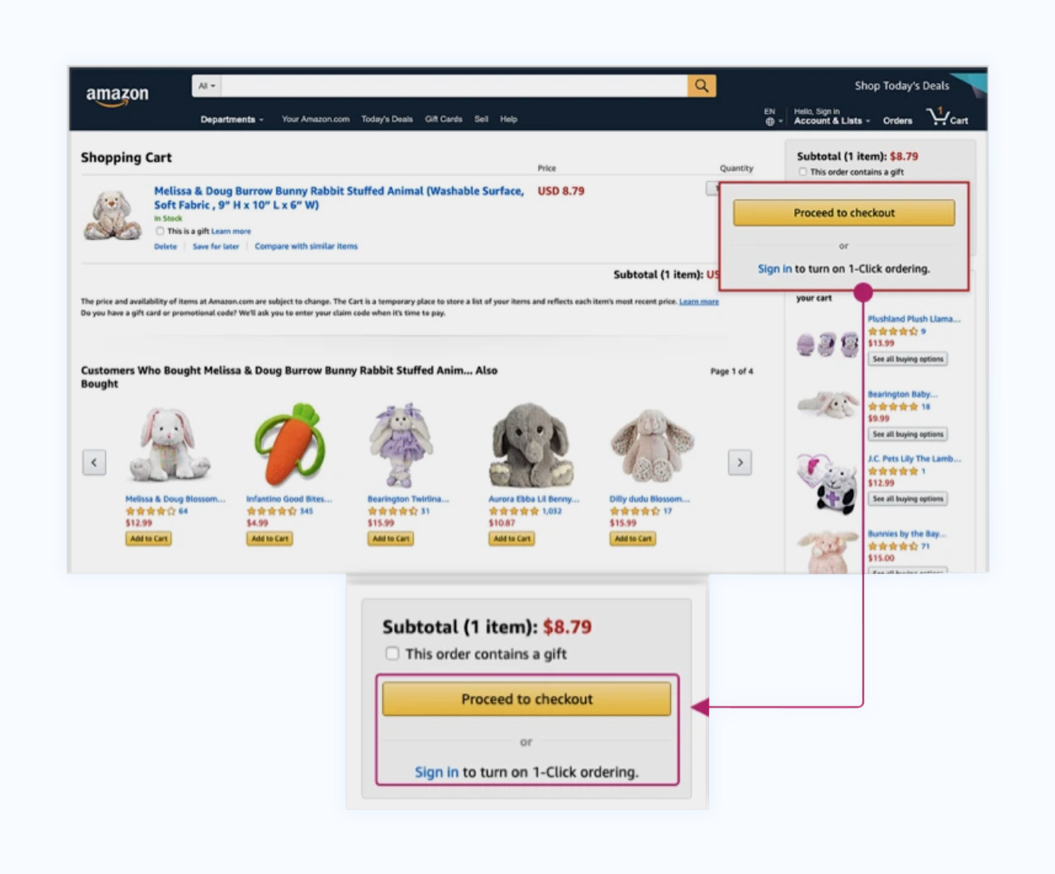 Amazon 1 Click checkout