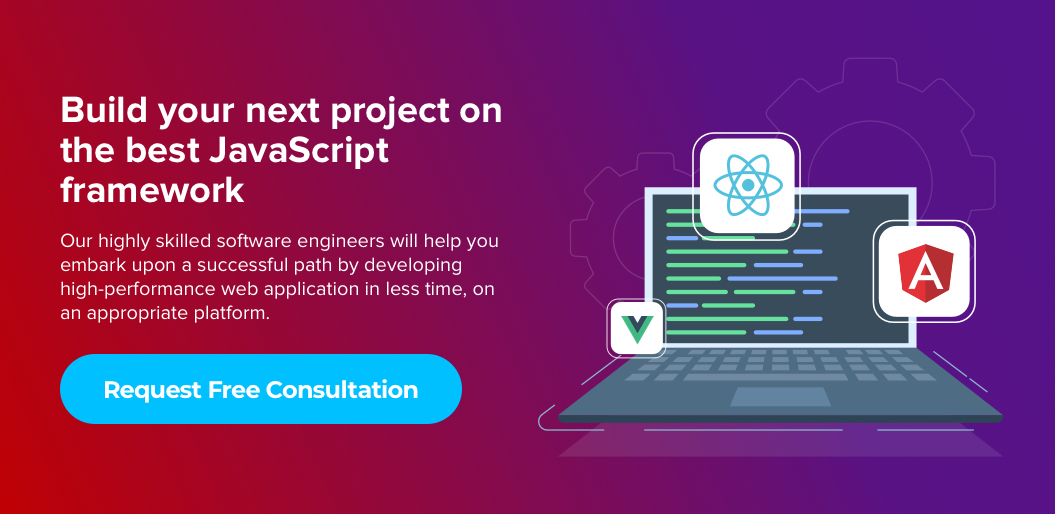 Contact net solutions to build an app on best javascript framework