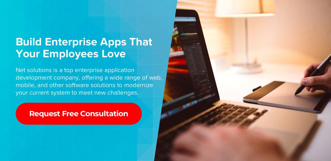 Contact net solutions to build an enterprise app