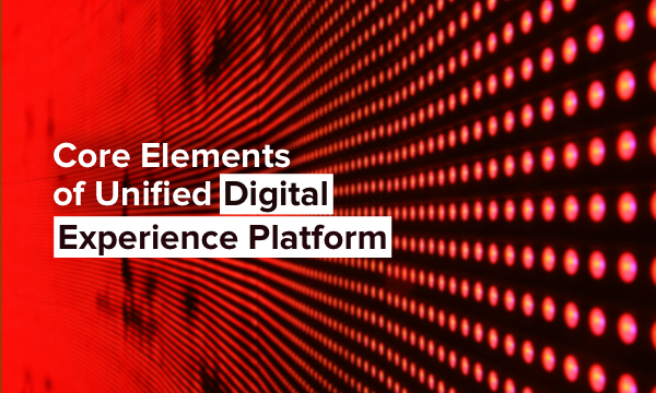 Elements of Unified Digital Experience Platform