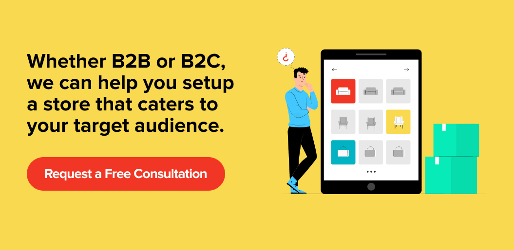 Contact Net Solutions for help with building a B2B or B2C eCommerce website