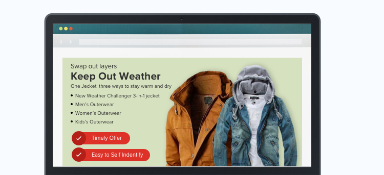 Hero section in ecommerce website