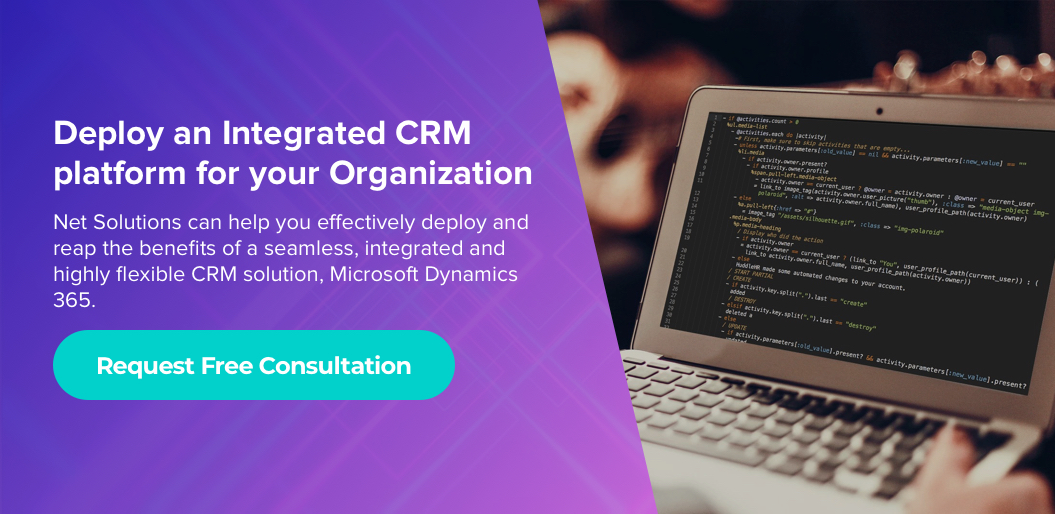 Request free consultation to deploy an Integrated CRM platform for your Organization