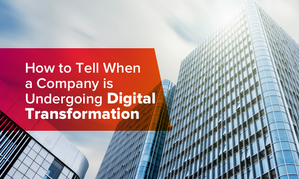 Signs when a company is undergoing digital transformation