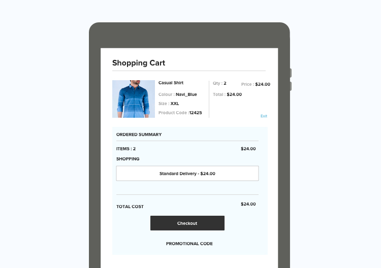 add thumbnails to the shopping cart page