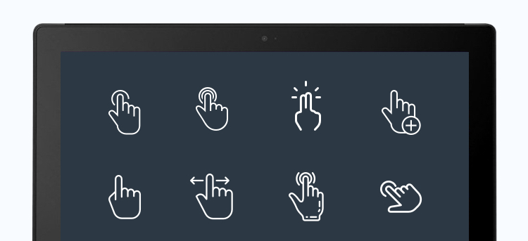 different type of gesture controls