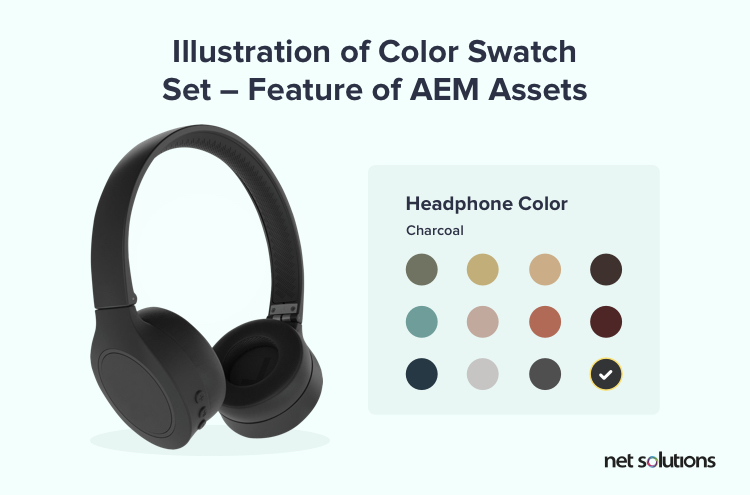 Illustration of Color Swatch Set - Feature of AEM Assets