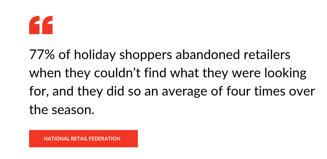 National Retail Federation study on shoppers abandoning retailers