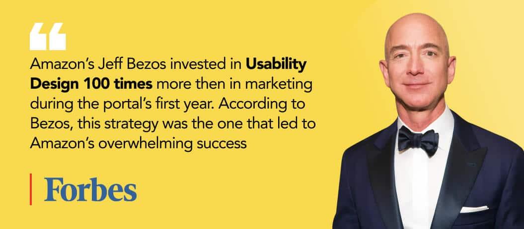Jeff Bezos on importance of usability testing