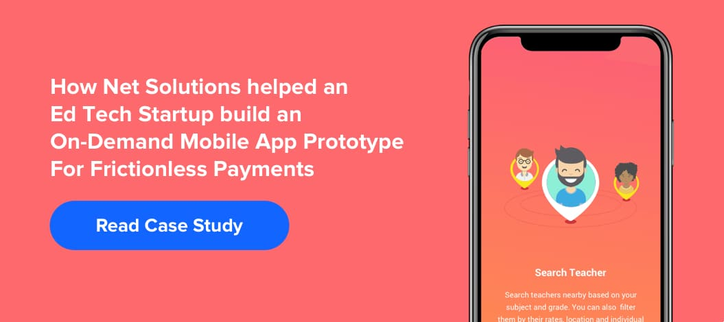 How Net Solutions helped an Ed Tech Startup build a mobile app prototype_1