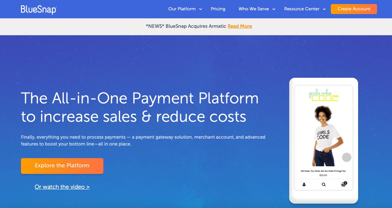Bluesnap ecommerce payment gateway