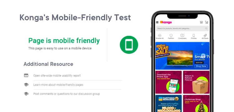 A look at Konga's mobile-friendliness report