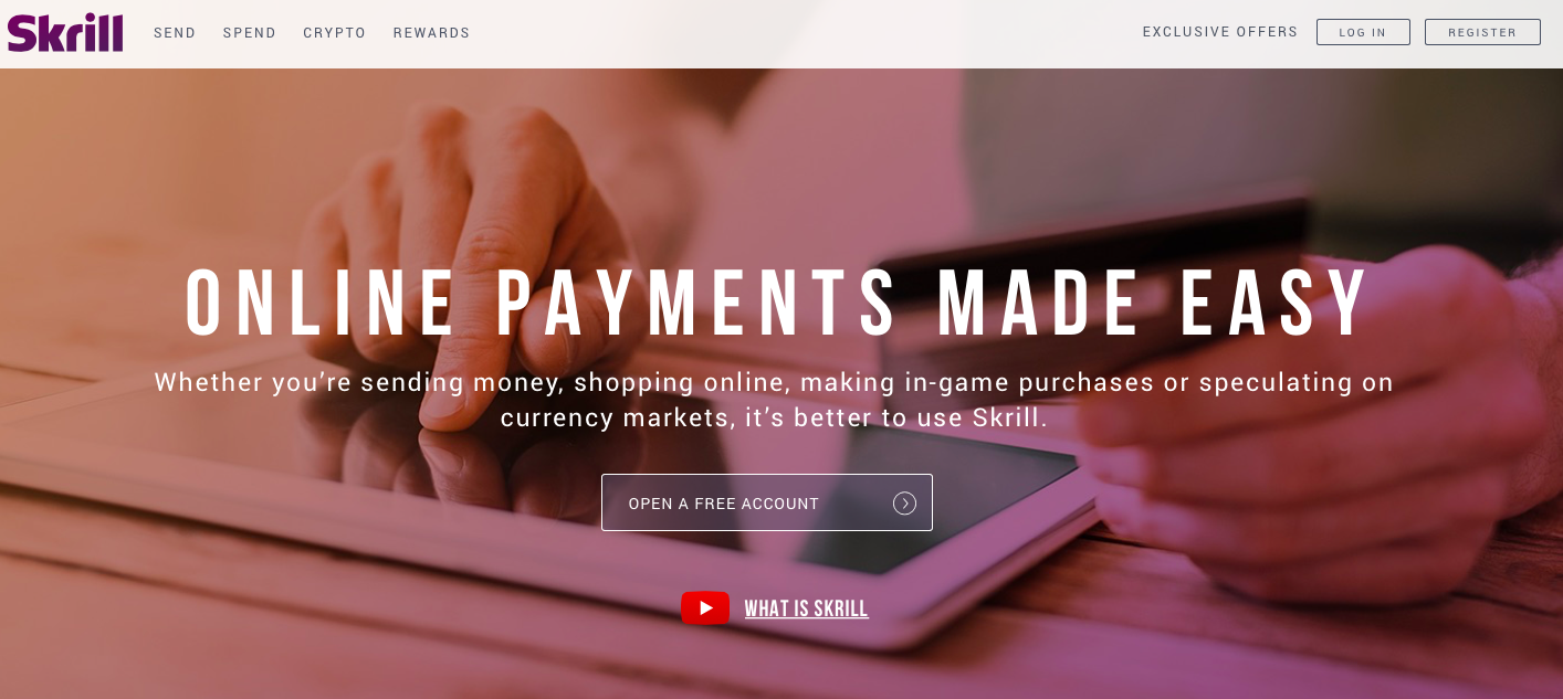 Skrill eCommerce payment gateway