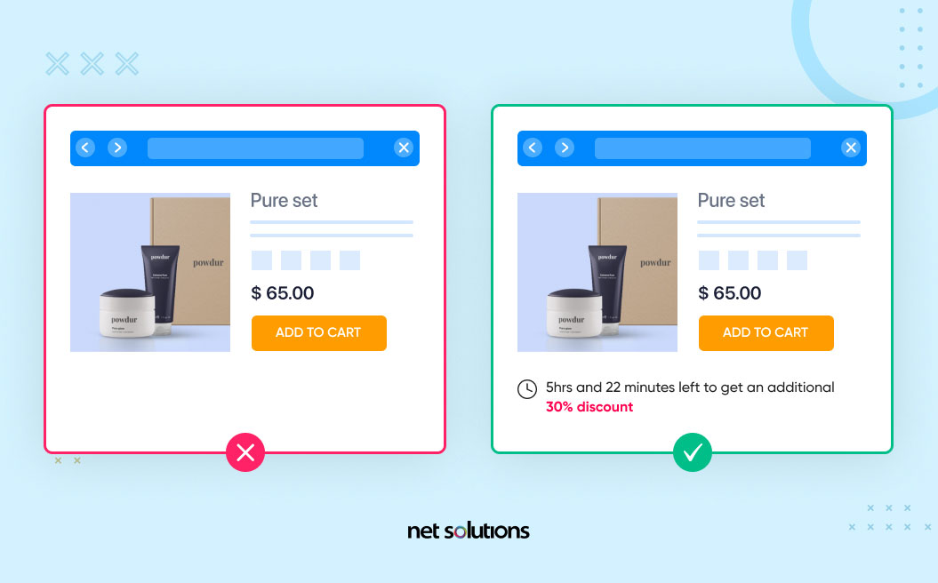 include a strong call to action on checkout pages