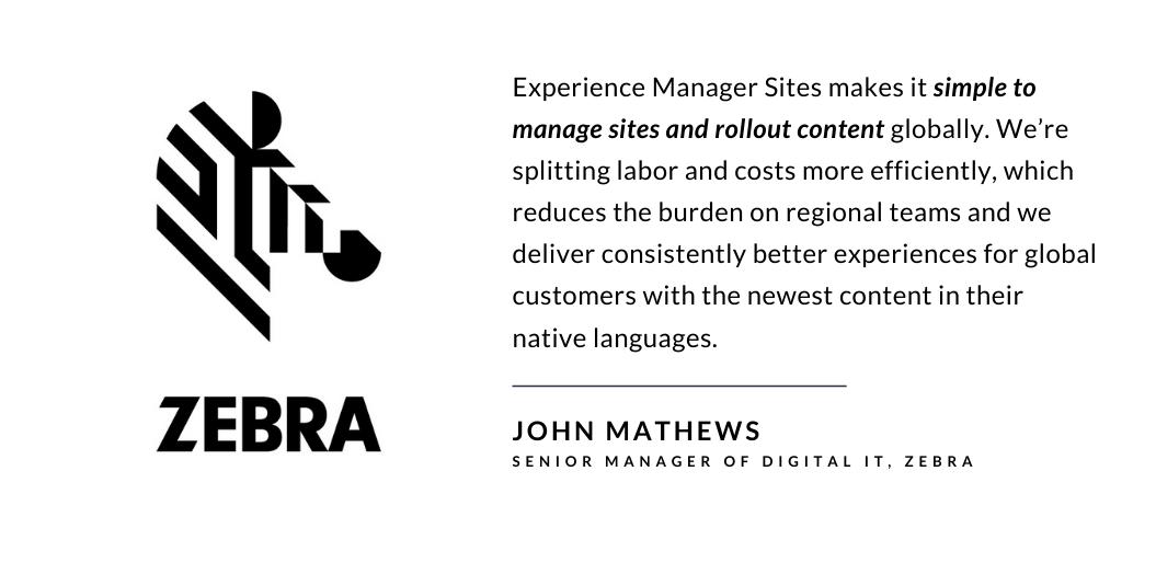 How Zebra Technologies leveraged use case of Digital Experience Platform
