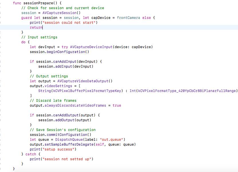 creating live stream session using AVFoundation