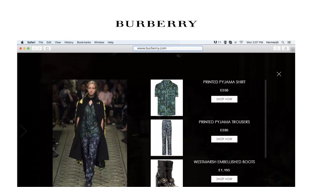 Burberry Shoppable Video