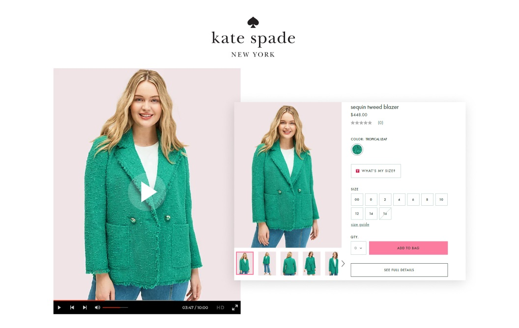 Kate Spade Shoppable Video