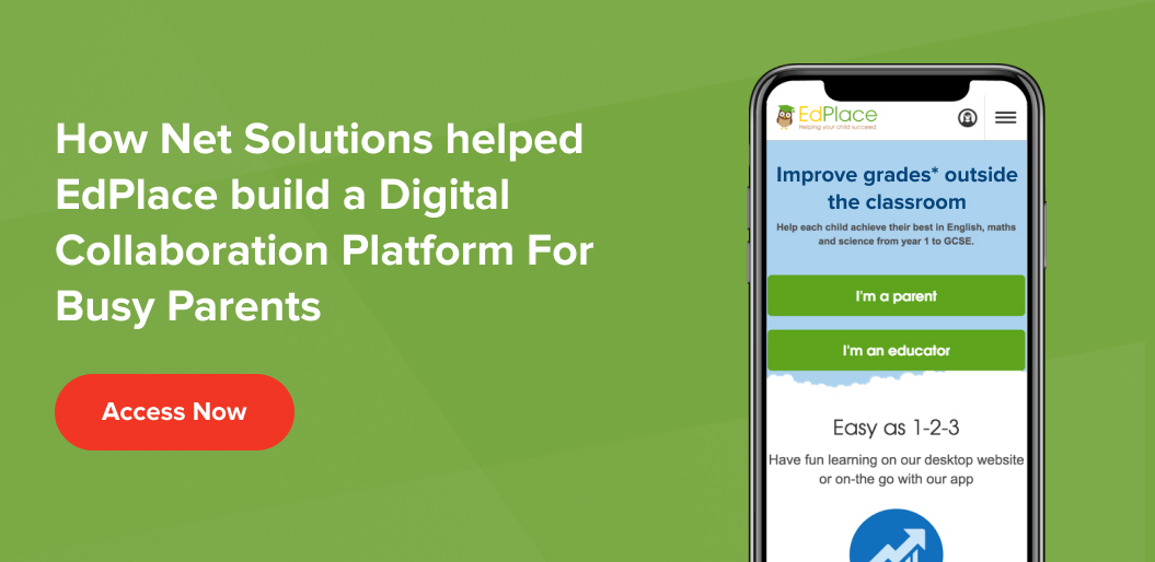 See how Net Solutions built a remote learning platform called EdPlace - Case Study