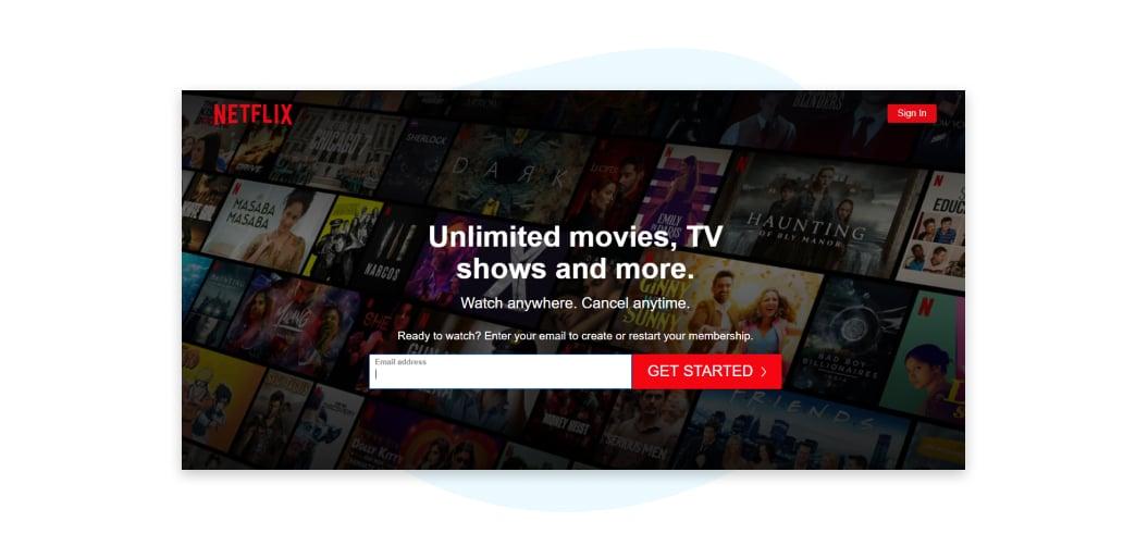 Netflix Index Page