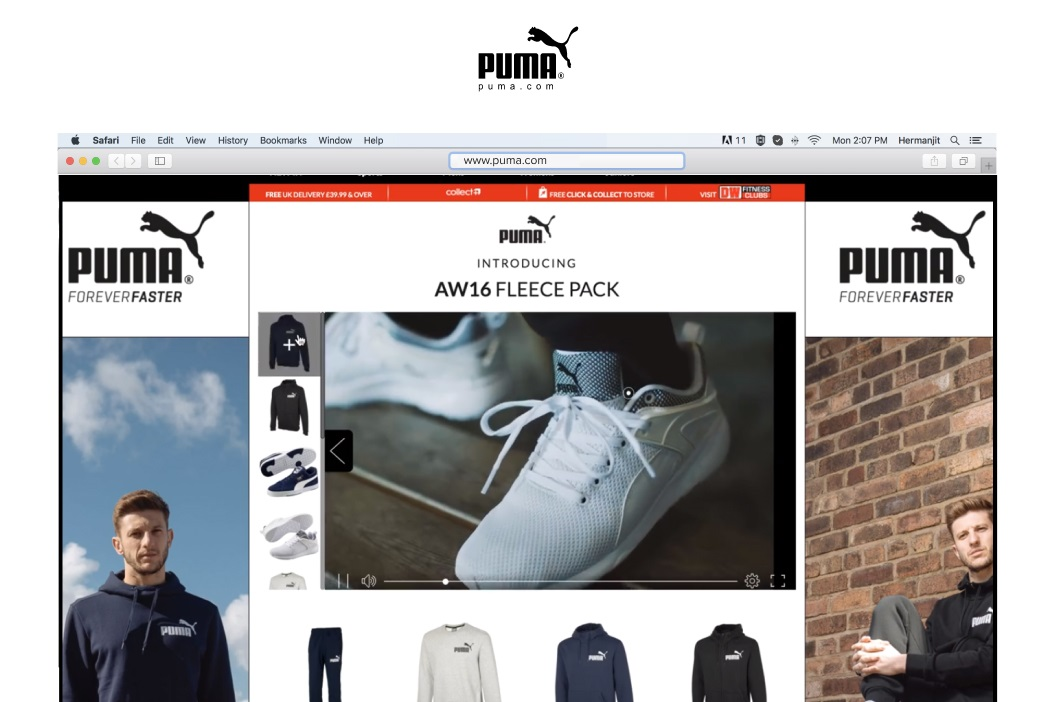 Puma Shoppable Video