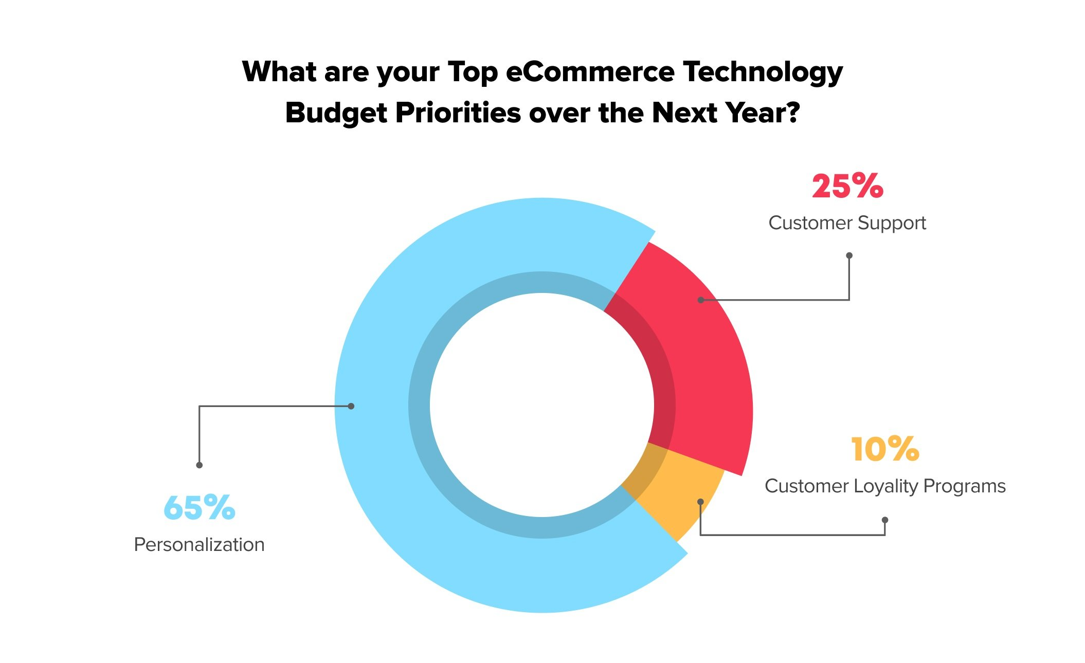 Top digital commerce technology budget of retailers