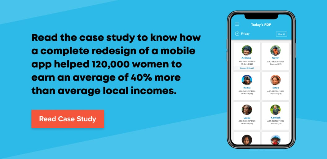 Read Net Solutions' case study on mobile UX design