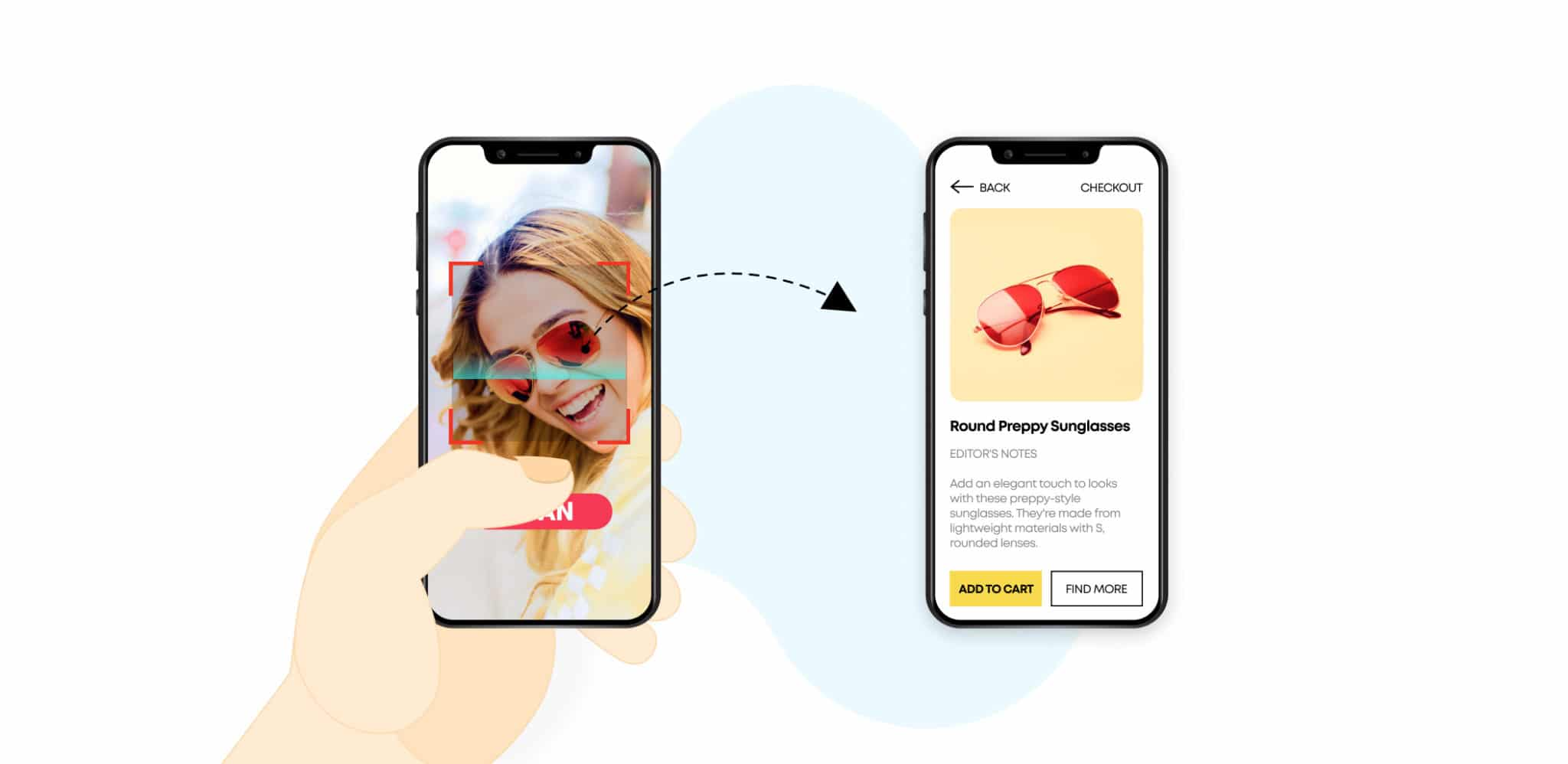 Scan and find feature or reverse image search for ecommerce