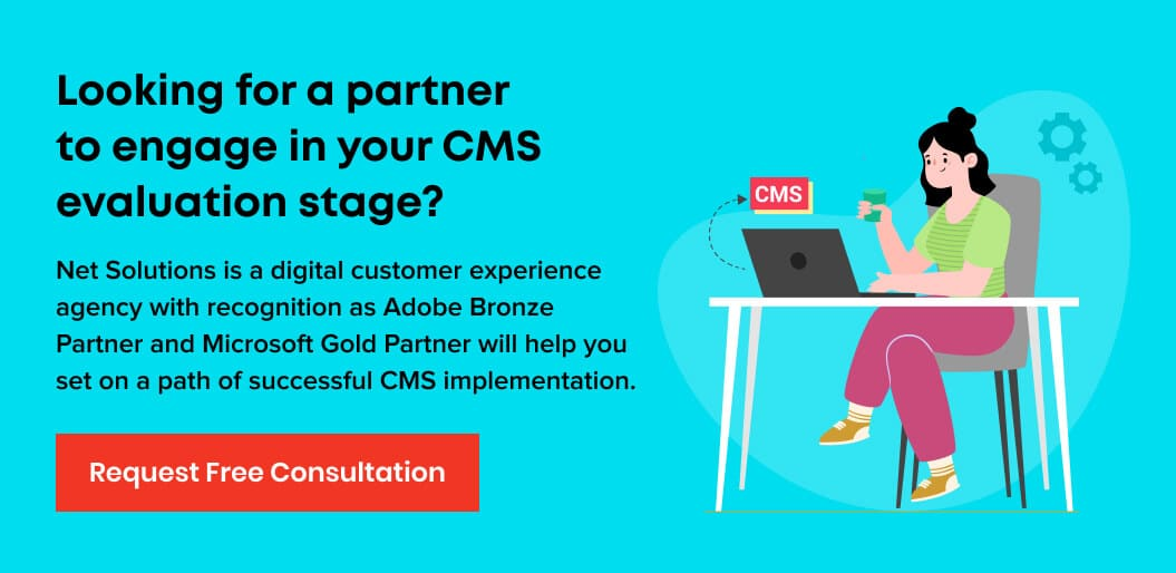Contact Net Solutions for CMS platform implementation