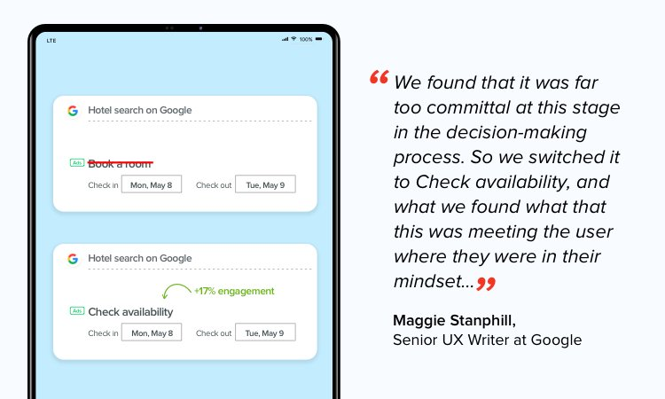 How Google used UX Writing to improve engagement | UX design trends