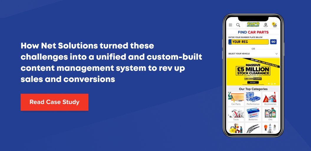 How Net Solutions Helped Euro Car Parts Build a Content Management System