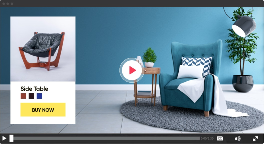 Example of video player with interactive content | 2021 eCommerce Trends