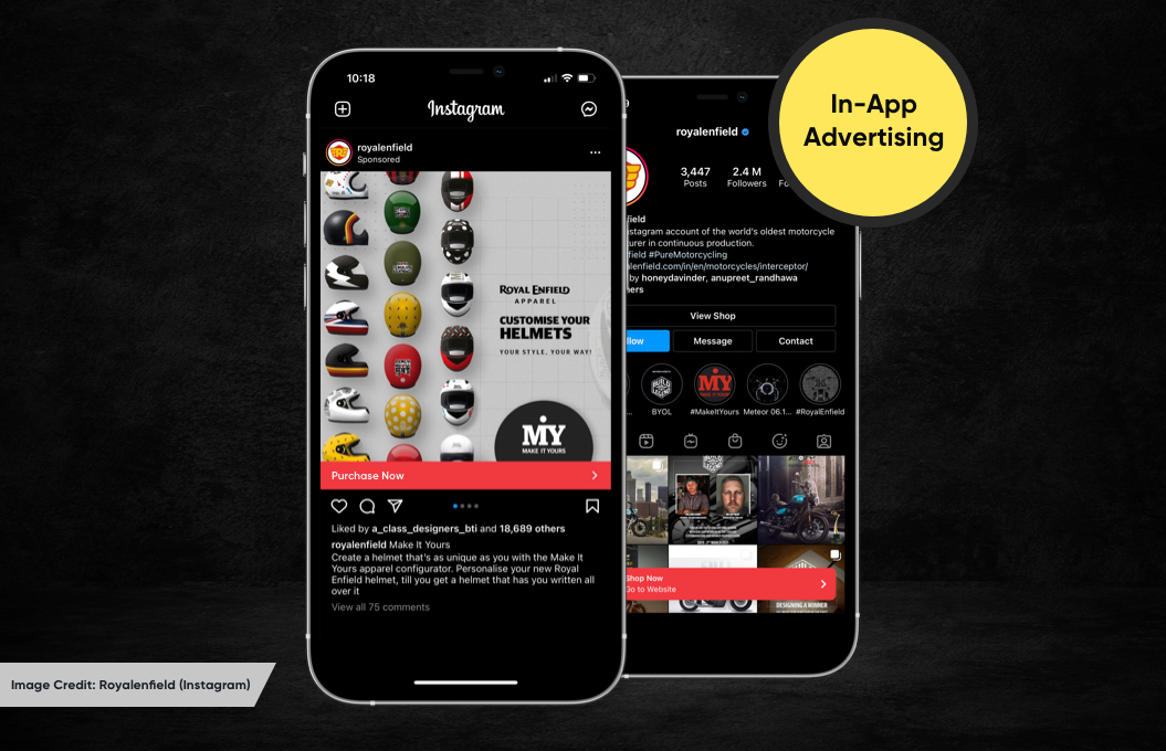 Instagarm In-App Advertising | In-App Purchases