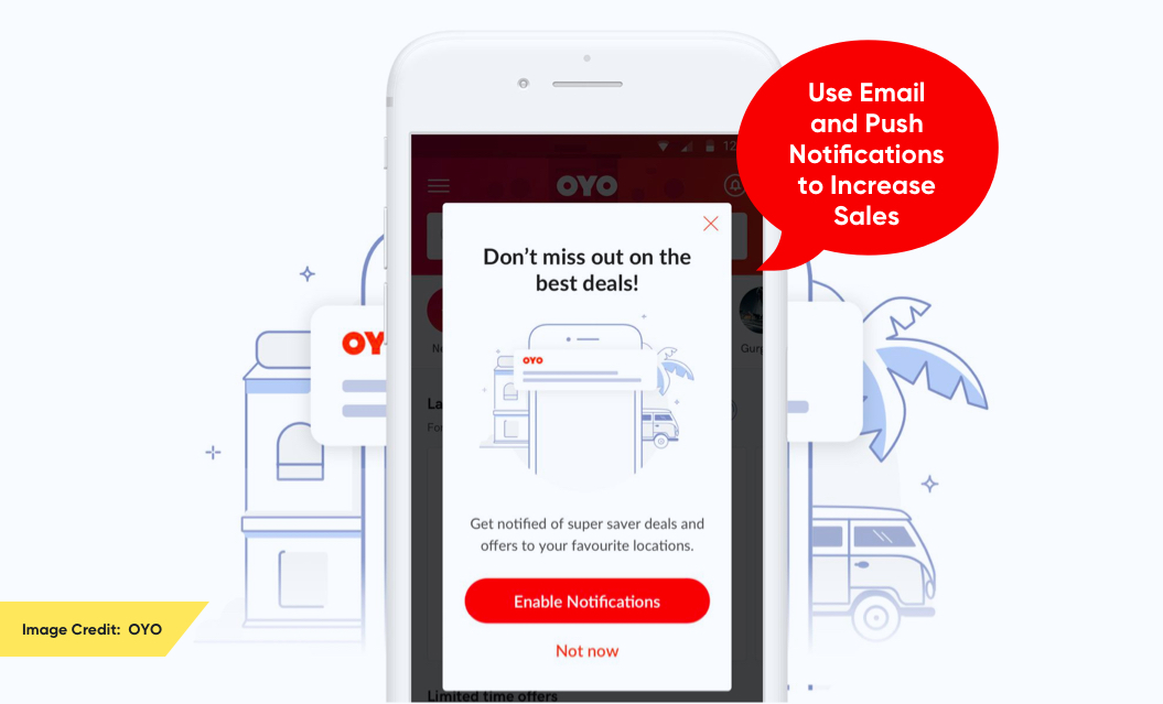 Use Email and Push Notifications to Increase Sales