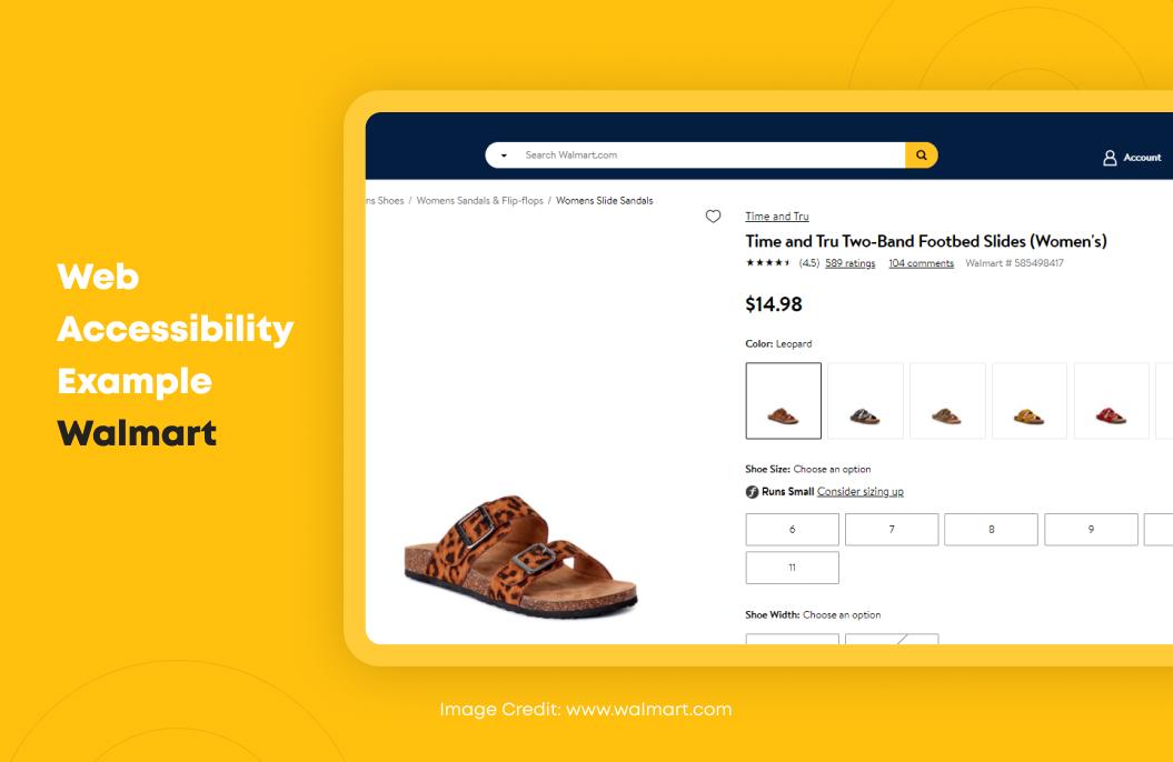 Web Accessibility Example Walmart