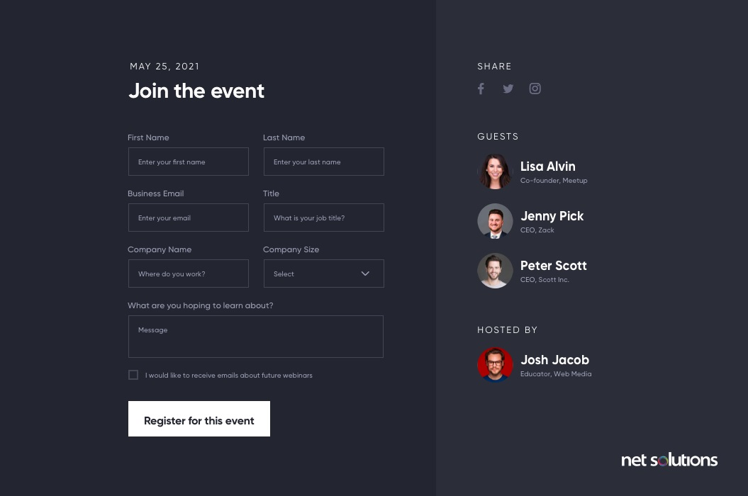 Put the Easiest Information First   Form Design Best Practices