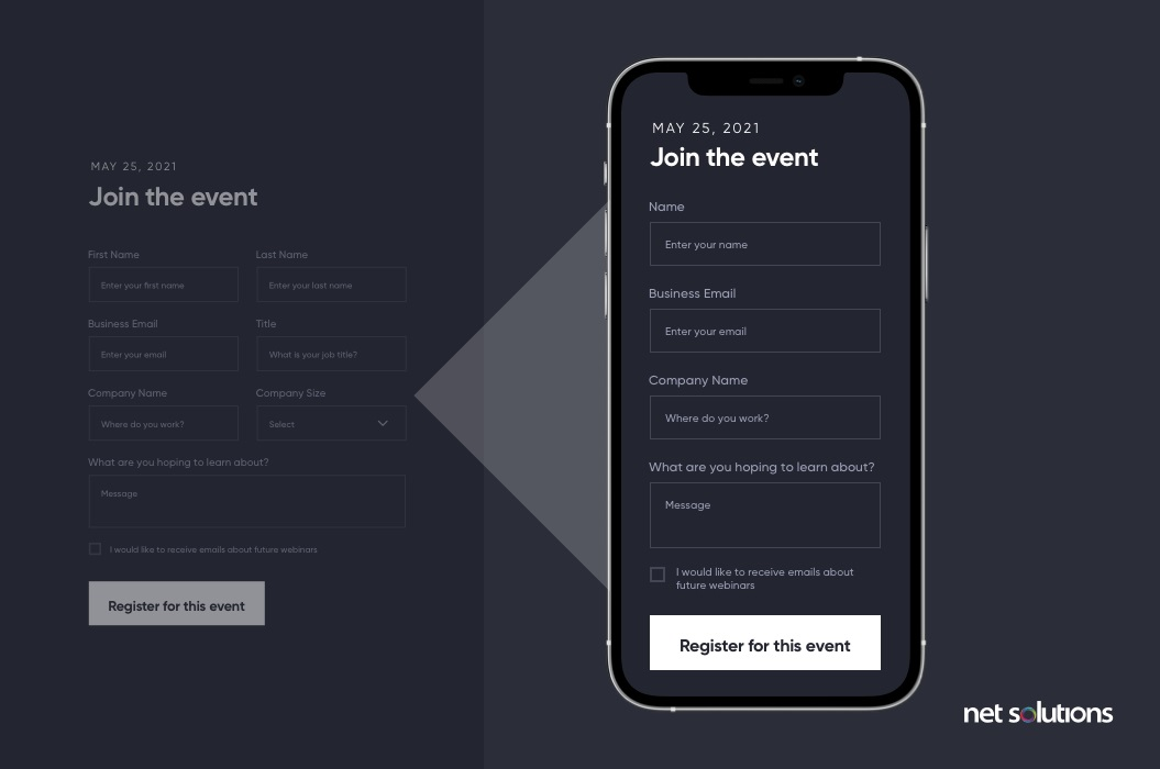 Use Different Form for Mobile   Form Design Best Practices