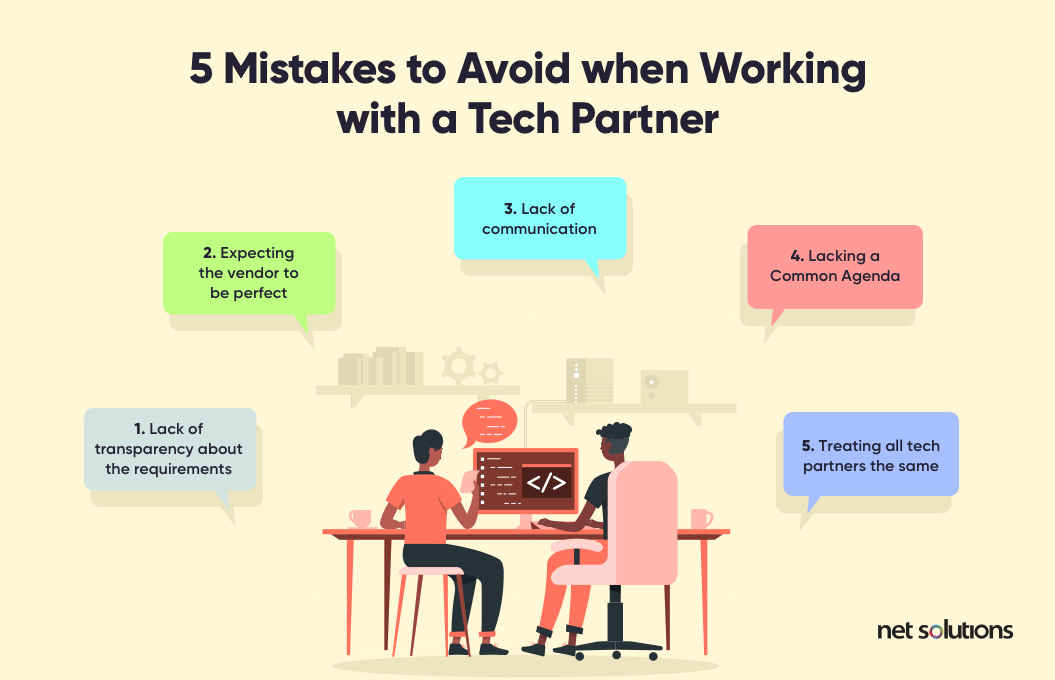 5 Mistakes to Avoid when working with a tech partner | Proof of Concept