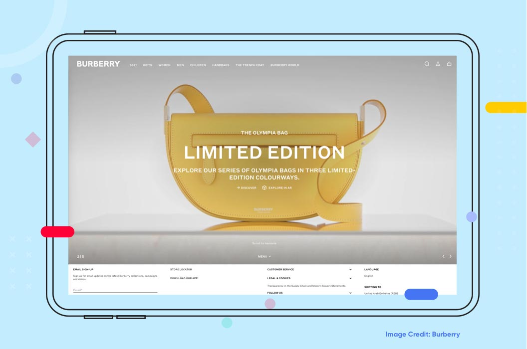Shoppable Videos Example Burberry