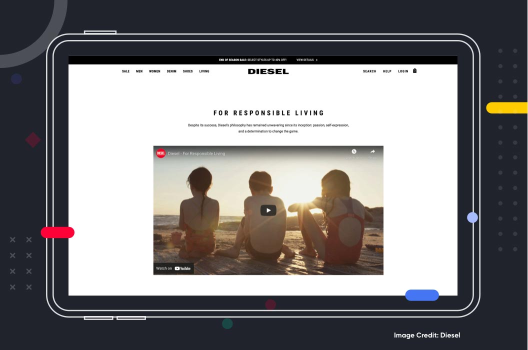 Shoppable Videos Example Diesel