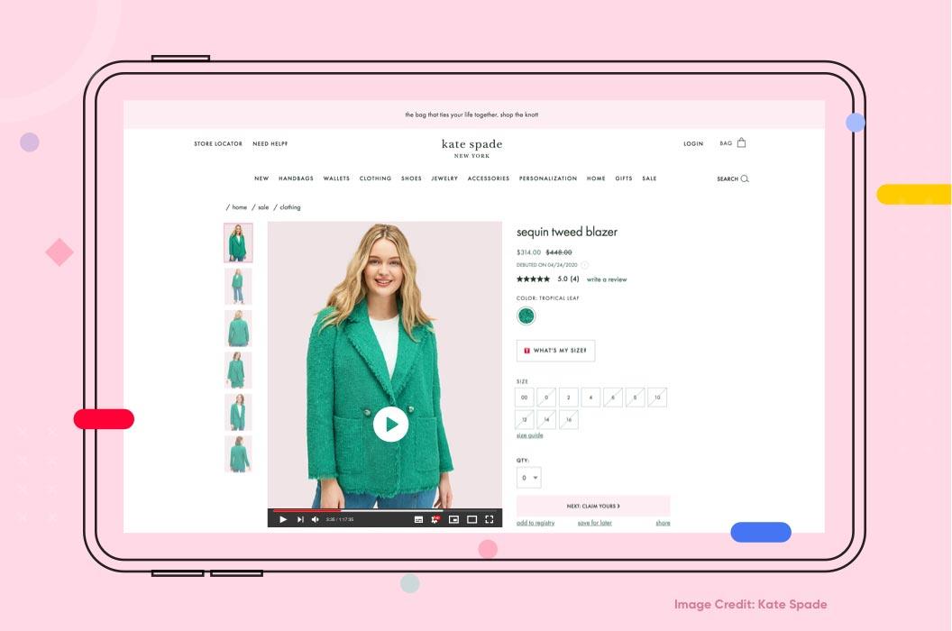 Shoppable Videos Example Kate Spade