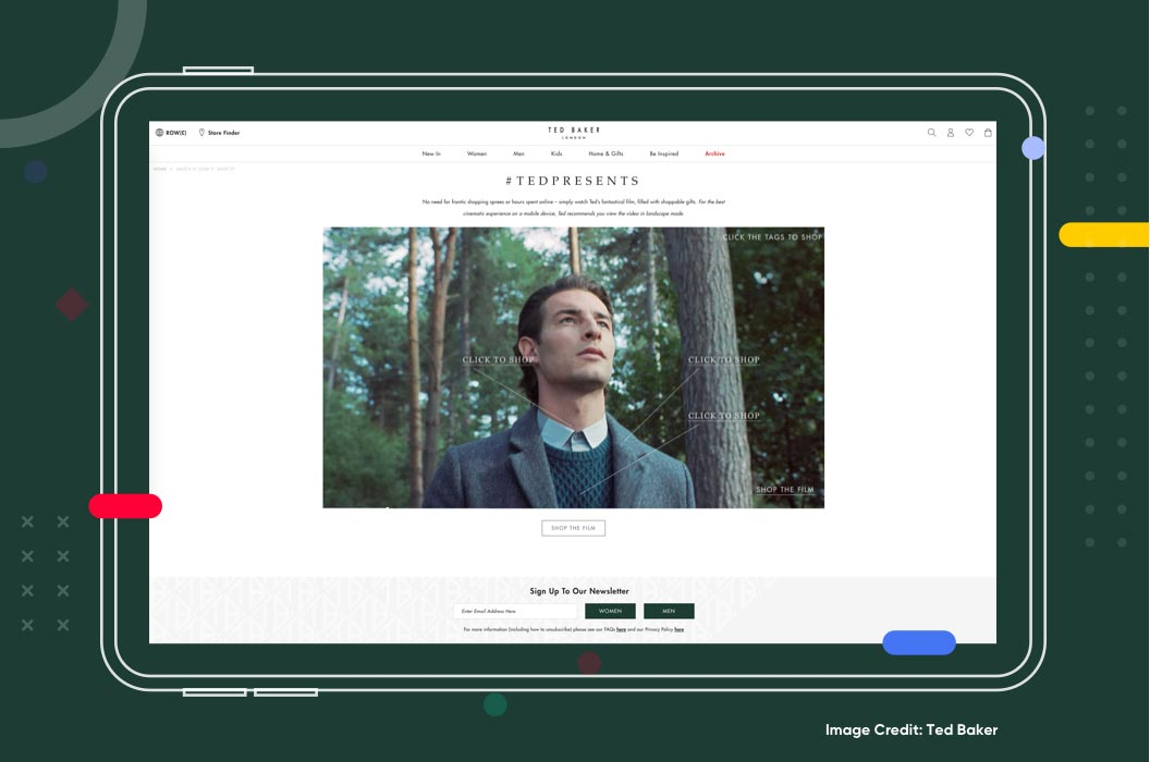 Shoppable Videos Example Ted Baker