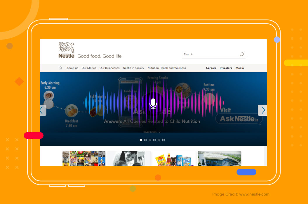 nestle uses voice search technology to boost engagement