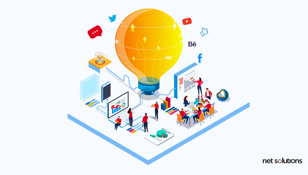search for web app ideas on social media
