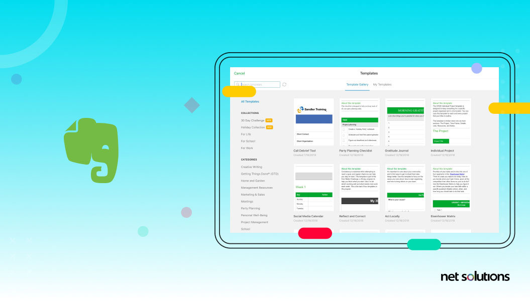 evernote | web apps development example