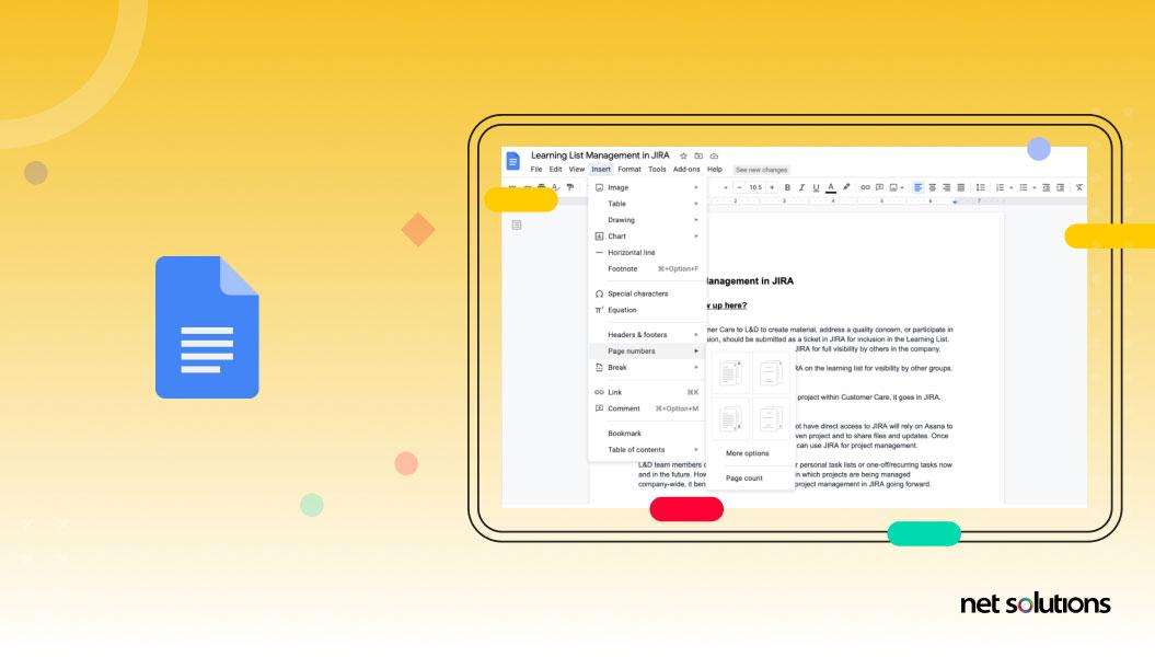 google docs | web application development example